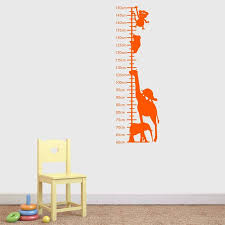 Animals Childrens Height Chart Wall Sticker New House In
