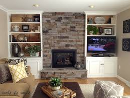 contemporary built in bookcases around fireplace