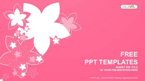 Ppt Flowers Nature With Of Pink Flowers Powerpoint Templates