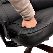 office recliner chair. PU Leather Swivel Arm Lounge Chair Recliner Ottoman Office Armchair Couch Black Storage Box Patchwork I