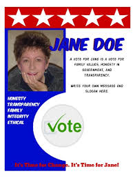 Free Election Campaign Flyer Template Campaign Flyer Uk