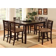 cherry counter height piece: furniture of america jameson  piece counter height table set dark cherry dining table sets at hayneedle