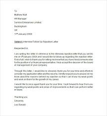 Interview Rejection Letter Gplusnick