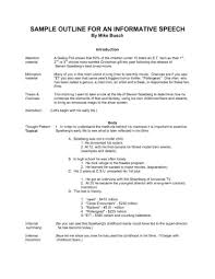 Speech Outline Format 10 Public Speaking Outline Example Mla Format