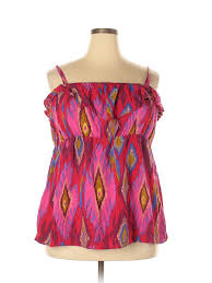 Details About Torrid Women Pink Sleeveless Blouse 3x Plus