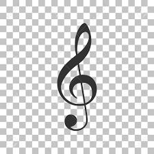 Music Violin Clef Sign G Clef Treble Clef Dark Gray Icon On