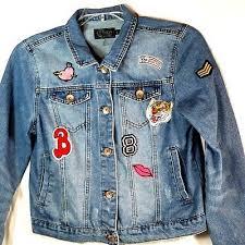 Denim Jacket Girls Youth Large Distressed Jean Jacket