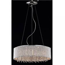 pendant chandelier twisted aluminum bar spiral shade 16 crystals round drumceiling lights