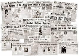 Victorian Era Newspaper Template The Great Depression Newspaper Headlines From The Stock Market