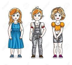 かわいい女の子ファッショナブルなカジュアルな服を着て立っています