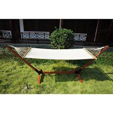 new garden outdoor patio hammock wooden hammock with wood stand standing frame 1 of 9only 0 available see more