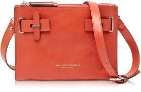 francesco biasia hampstead orange leather cross bag