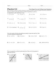 4 2 skills practice writing equations in slope intercept form