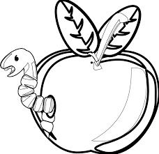 apple clip art black and white. apple black and white school clip art free 2 3