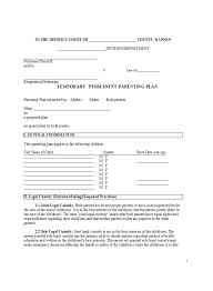 How To Develop A Birth Plan 49 Free Parenting Plan Custody Agreement Templates