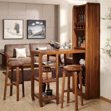 living room bars furniture. The Best Choice Of Corner Mini Bar Living Room With All Brown Furnished Teak Wood Furniture Cabinet And Foldable Table High Stool Bars