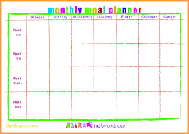 monthly meal planner template 5 6 monthly meal planner template proposalsheet com