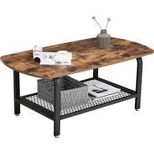 vasagle coffee table industrial tea