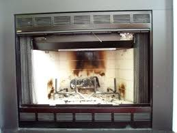 how to clean gas fireplace glass doors wood burning door thesrch