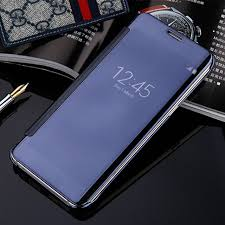 samsung flip phone 2017. flip case for samsung galaxy a3 a5 a7 2017 clear view mirror smart cover phone