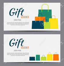 Gift Certificates For Your Business Gift Voucher Template For Your Business Vector Illustration Royalty