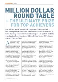 Million Dollar Round Table Canada Mdrt Toronto Wealth Article Liberty