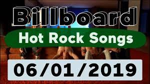 Billboard Top 50 Hot Rock Songs June 1 2019