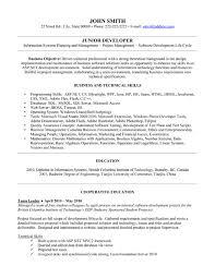 Junior Software Engineer Resume] Junior Software Developer Cv ..