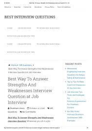 Job Weaknesses Examples Best Way To Answer Strengths And Weaknesses Interview Question For Job