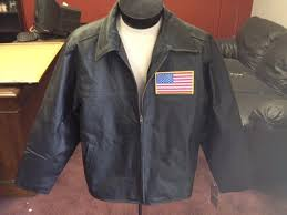 details about new black leather jacket new burk s bay with or without flag large and xl