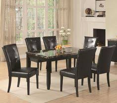 coaster anisa dining table with black faux stone top item number 102791