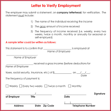 Letter Verification Of Employment Income Verification Letter 6 Samples Formats