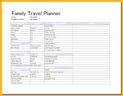 Word Travel Itinerary Template Travel Planner Template
