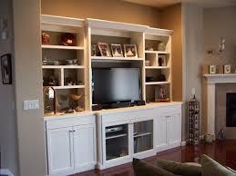 White lacquer entertainment center Modern Living Room Denver