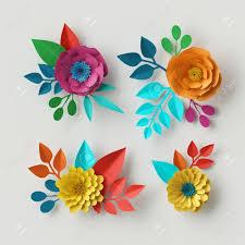 Flower Paper Clips Stock Illustration