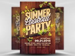 16 Cookout Flyer Designs Templates Word Psd Ai