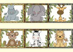 safari animals wallpaper border wall decal baby boy jungle nursery decor kids room childrens bedroom zebra baby nursery cool bee animal rocking horse