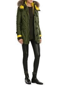 burberry chevrington parka with fur trim green women burberry trench coat liner burberry shirt dress multiple colors