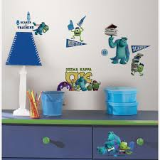 monsters university l and stick 20 piece wall decals