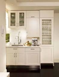 Small White Kitchen Small Modern Kitchen Design With Wooden Material And Good Lighting
