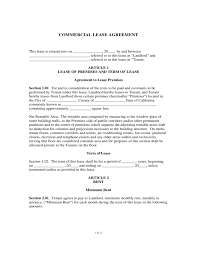 Sample Commercial Lease Agreement Free Download