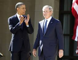 george w bush presidential center is dedicated in dallas u s president barack obama l applauds as former president george w bush arrives