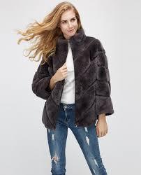 batwing rex rabbit fur jacket 961a