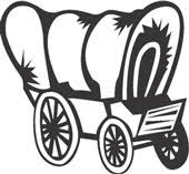 black and white covered wagon. covered wagon clip art black and white