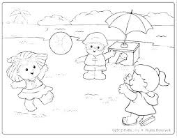 Printable Coloring Sheets Summertime Summer Fun Coloring Pages Free