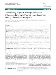 (PDF) The efficacy of pre-warming on reducing intraprocedural ...