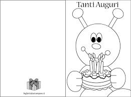 Biglietti Di Compleanno Per Bambini Da Colorare Bigliettidastampareit