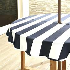 outdoor round tablecloth umbrella hole tablecloths black and white mix line color rectangle with