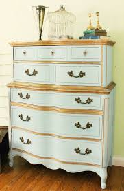 Trois Petites Filles did this French Dresser using Old White, then watered  down Louis Blue