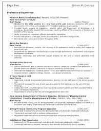 Resume Objective For A Nurse Resume Work Template